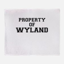 Property of WYLAND Throw Blanket