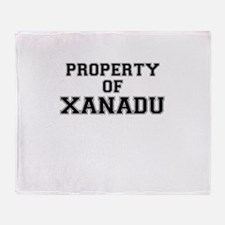 Property of XANADU Throw Blanket