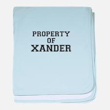 Property of XANDER baby blanket