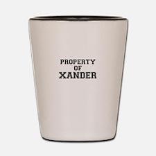Property of XANDER Shot Glass