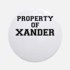 Property of XANDER Round Ornament