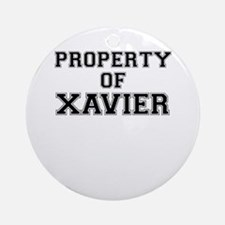 Property of XAVIER Round Ornament