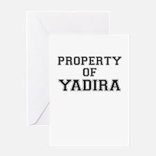 Property of YADIRA Greeting Cards