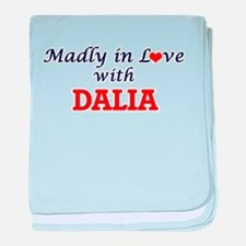 Madly in Love with Dalia baby blanket