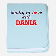 Madly in Love with Dania baby blanket