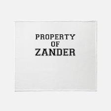 Property of ZANDER Throw Blanket