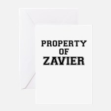 Property of ZAVIER Greeting Cards