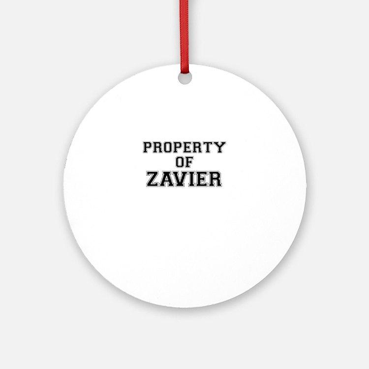Property of ZAVIER Round Ornament