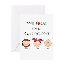 We Love Our Grandma Greeting Card