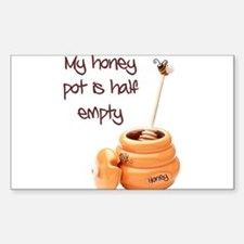 honey pot is empty Rectangle Decal