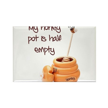honey pot is empty Rectangle Magnet (100 pack)