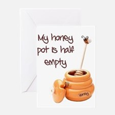 honey pot is empty Greeting Card