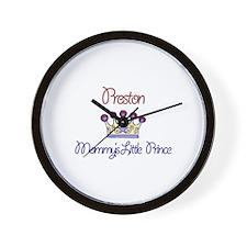 Preston - Mommy's Little Prin Wall Clock