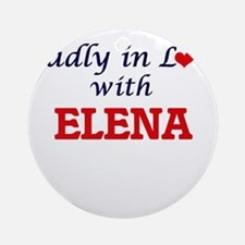 Madly in Love with Elena Round Ornament