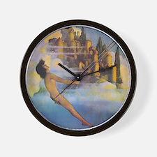 Dinky Bird Maxfield Parrish Wall Clock