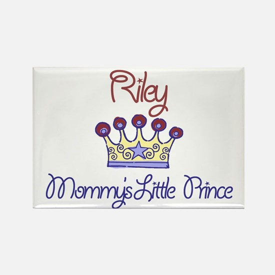 Riley - Mommy's Little Prince Rectangle Magnet