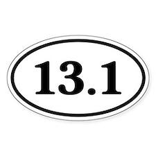 13.1 Half Marathon Runner Oval Bumper Stickers