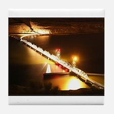 Railroad Bridge @ Night Tile Coaster