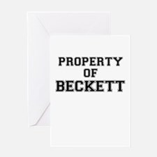 Property of BECKETT Greeting Cards
