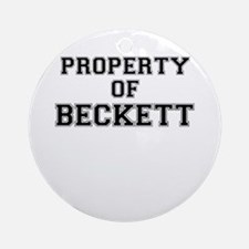 Property of BECKETT Round Ornament