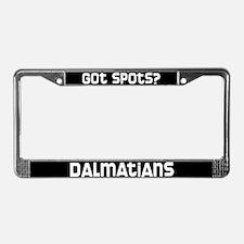 got spots? Dalmatian License Plate Frame