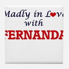 Madly in Love with Fernanda Tile Coaster