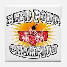 Beer Pong Champion Tile Coaster