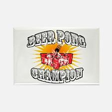 Beer Pong Champion Rectangle Magnet