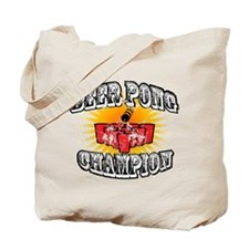 Beer Pong Champion Tote Bag