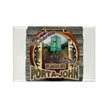 Porta John hunting blinds mak Rectangle Magnet