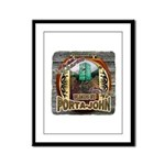 Porta John hunting blinds mak Framed Panel Print