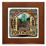 Porta John hunting blinds mak Framed Tile