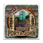 Porta John hunting blinds mak Tile Coaster