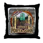Porta John hunting blinds mak Throw Pillow