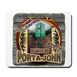 Porta John hunting blinds mak Mousepad