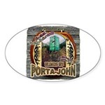 Porta John hunting blinds mak Oval Sticker
