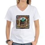 Porta John hunting blinds mak Women's V-Neck T-Shi