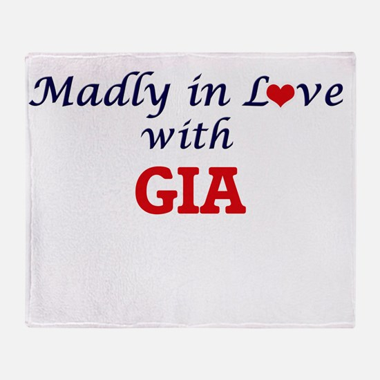 Madly in Love with Gia Throw Blanket
