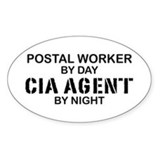 Postal Worker CIA Agent Oval Decal