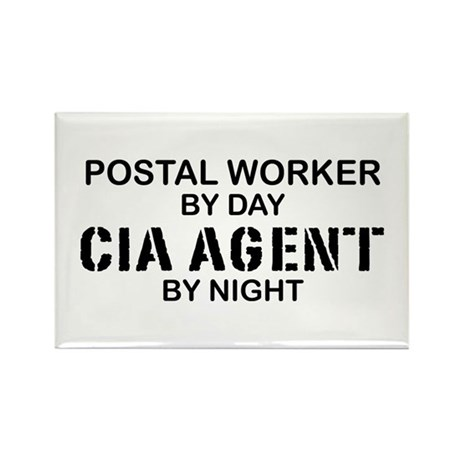 Postal Worker CIA Agent Rectangle Magnet