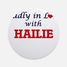 Madly in Love with Hailie Round Ornament