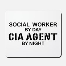 Social Workder CIA Agent Mousepad