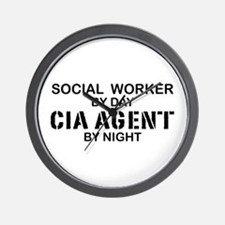 Social Workder CIA Agent Wall Clock