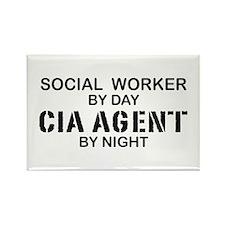 Social Workder CIA Agent Rectangle Magnet