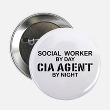"Social Workder CIA Agent 2.25"" Button"