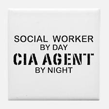 Social Workder CIA Agent Tile Coaster
