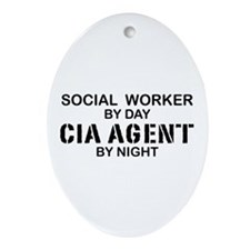 Social Workder CIA Agent Oval Ornament