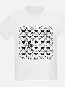 Border Collie and Sheep Kids T-Shirt