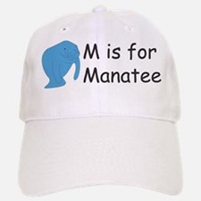 M is for Manatee Baseball Baseball Cap