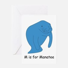 M is for Manatee Greeting Card